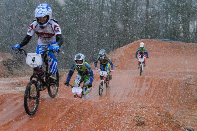 Racing in the Snow! -- Photo by Mikey Keith